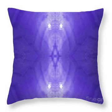 Purple Light Phantom  Throw Pillow by Rachel Hannah