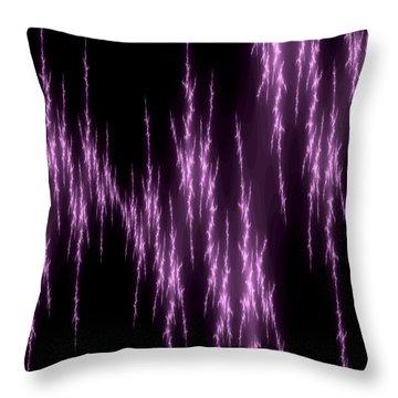 Purple Lightening Throw Pillow