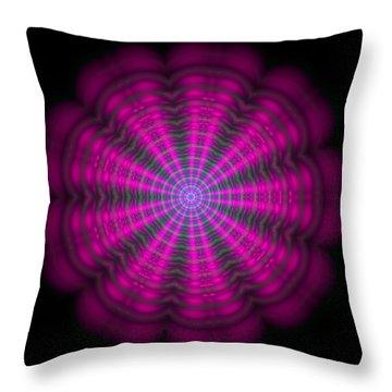 Throw Pillow featuring the digital art Purple Lightmandala Ripples by Robert Thalmeier