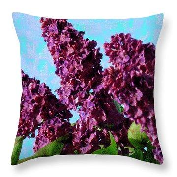 Purple Lilac 2 Throw Pillow by Jean Bernard Roussilhe