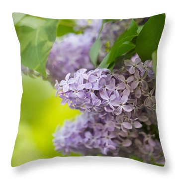 Purple Lilac Throw Pillow
