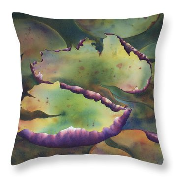 Purple Linings I Throw Pillow