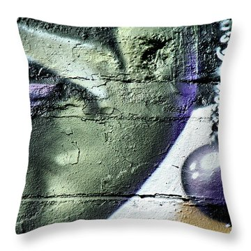 Purple Lips And Earring Throw Pillow