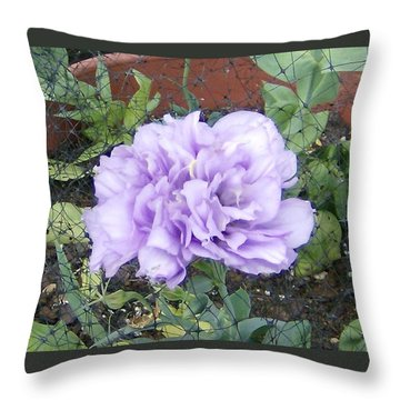 Throw Pillow featuring the photograph Purple Lisianthus by Skyler Tipton