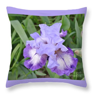Purple Love Throw Pillow by Marsha Heiken