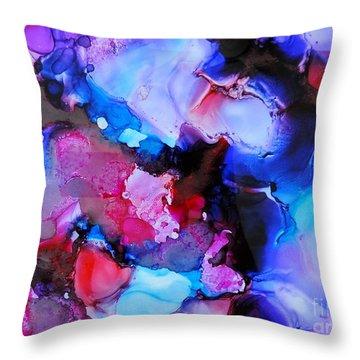 Purple Magic Throw Pillow