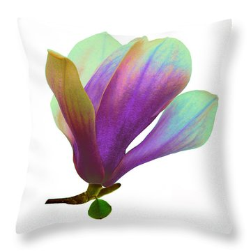 Purple Magnolia Throw Pillow
