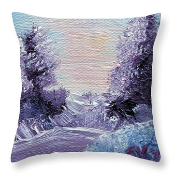 Purple Majesty Landscape Throw Pillow by Jera Sky