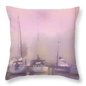 Purple Marina Morning Throw Pillow