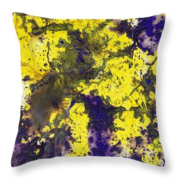 Purple Married Yellow Throw Pillow