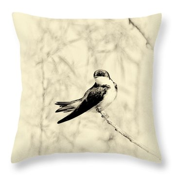 Throw Pillow featuring the photograph Purple Martin by Lila Fisher-Wenzel