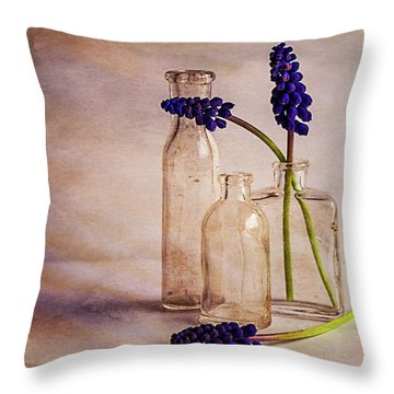 Throw Pillow featuring the photograph Purple by Mary Hone
