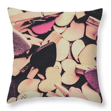 Purple Messy Love Throw Pillow