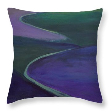 Purple Moor Throw Pillow