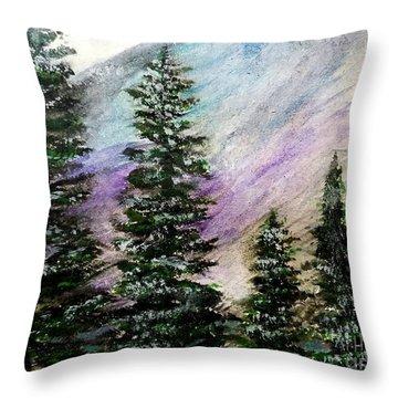 Purple Mountain Majesty Throw Pillow by Scott D Van Osdol