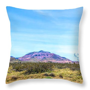 Purple Mountain Panoramic Throw Pillow