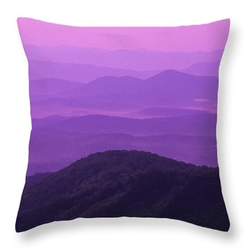 Purple Mountains Throw Pillow