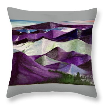 Purple Mountains Majesty Throw Pillow