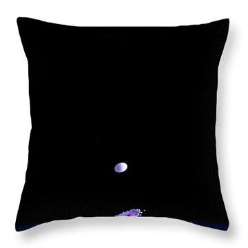 Purple Mushroom Throw Pillow