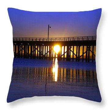 Purple Ocean Sunrise Throw Pillow