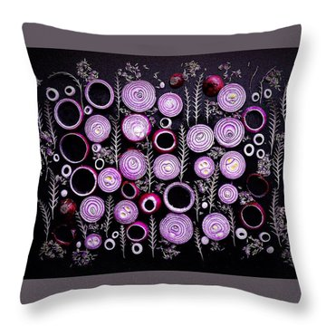 Purple Onion Patterns Throw Pillow