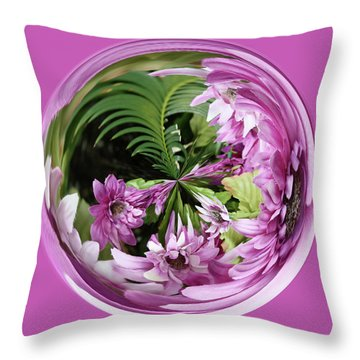Throw Pillow featuring the photograph Purple Orb by Bill Barber