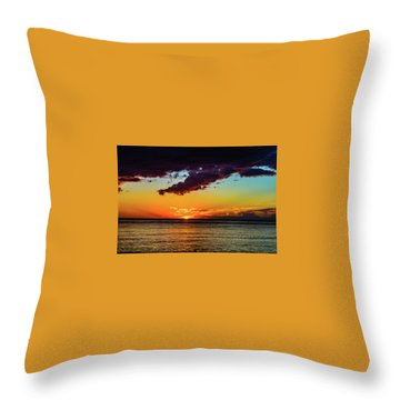 Purple Paints The Orange Throw Pillow