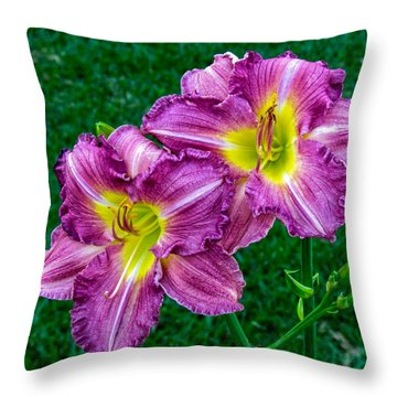 Purple Pair Throw Pillow