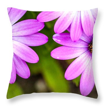 Purple Petals Throw Pillow by Az Jackson