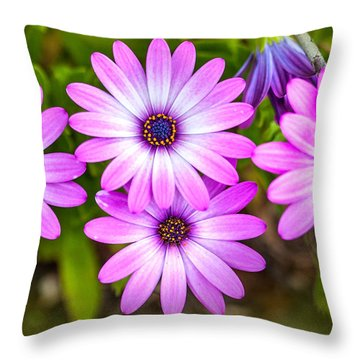 Purple Pals Throw Pillow