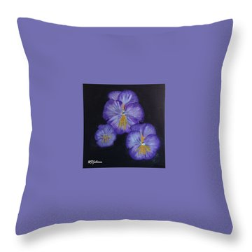 Purple Pansies Throw Pillow by Rod Jellison