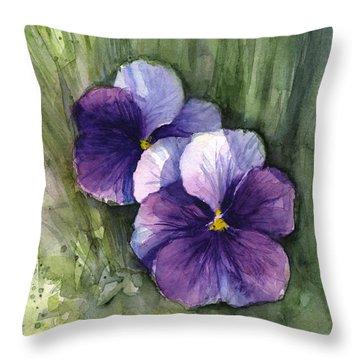 Floral Watercolor Throw Pillows