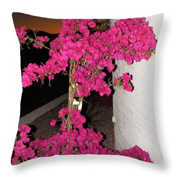 Purple Passion Against Desert Sunset Throw Pillow