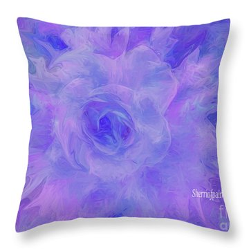 Purple Passion By Sherriofpalmspringsflower Art-digital Painting  Photography Enhancements Tradition Throw Pillow