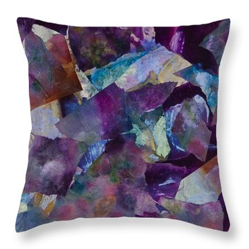 Purple Passion  Throw Pillow by Don  Wright