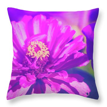 Throw Pillow featuring the photograph Purple Passion Flowers by Anna Louise