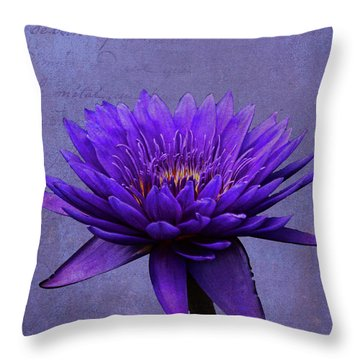 Throw Pillow featuring the photograph Purple Passion by Judy Vincent