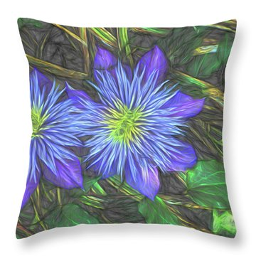 Throw Pillow featuring the digital art Purple Passion by Terry Cork