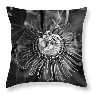 Passionflower Throw Pillows
