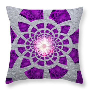 Purple Patched Throw Pillow