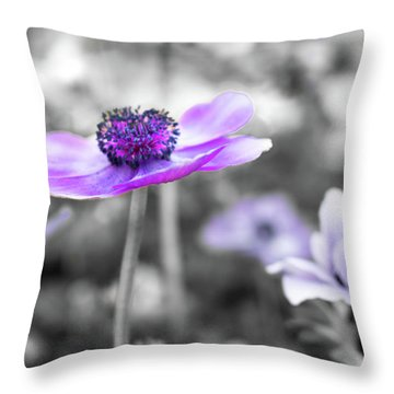 Purple Petals Throw Pillow