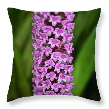 Purple Pillar Throw Pillow