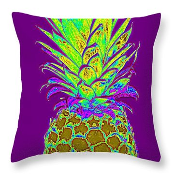Purple Pineapple Throw Pillow