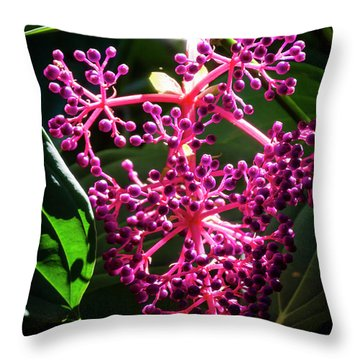 Purple Plant Throw Pillow