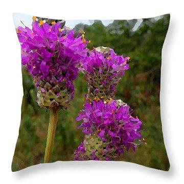 Purple Prairie Clover Throw Pillow