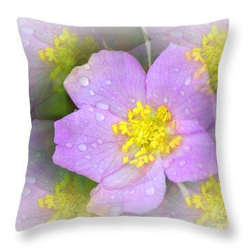 Purple Prism Throw Pillow by Marty Koch