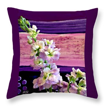 Purple Purple Everywhere Throw Pillow by Marsha Heiken