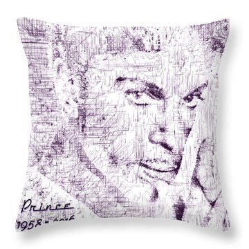 Throw Pillow featuring the digital art Purple Rain By Prince by ISAW Company