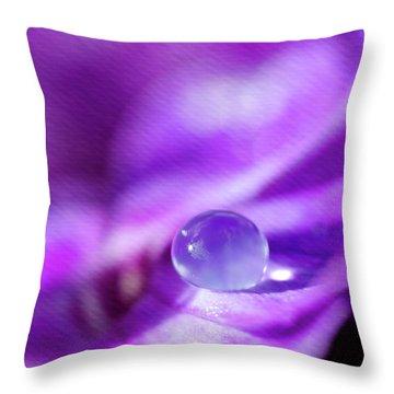 Purple Rain Drop Throw Pillow