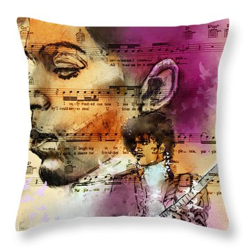 Purple Rain Forever Throw Pillow